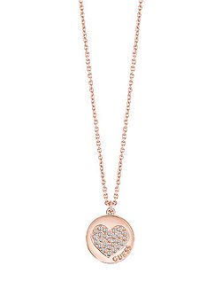 Heart devotion sparkle coin pendant