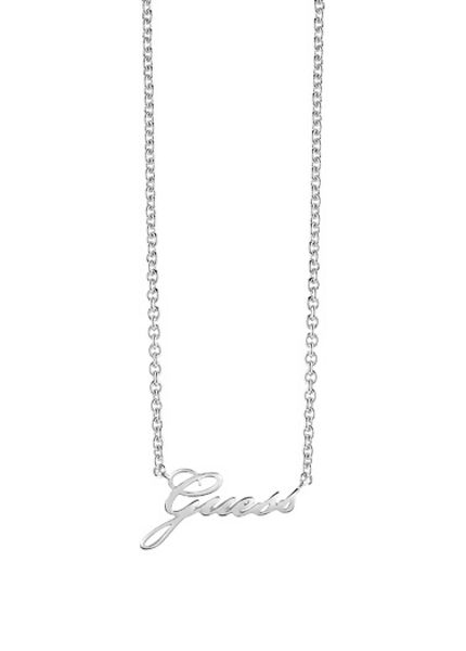Guess Signature logo necklace