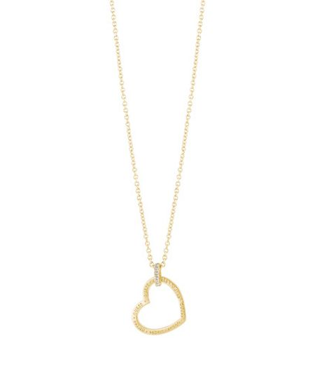 Guess Frame open heart engraved pendant