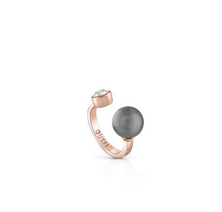 Guess Opposites attraction cultured pearl ring