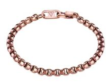 Guess Men`s brown ip box chain bracelet