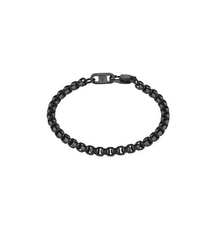 Guess Men`s black ip box chain bracelet