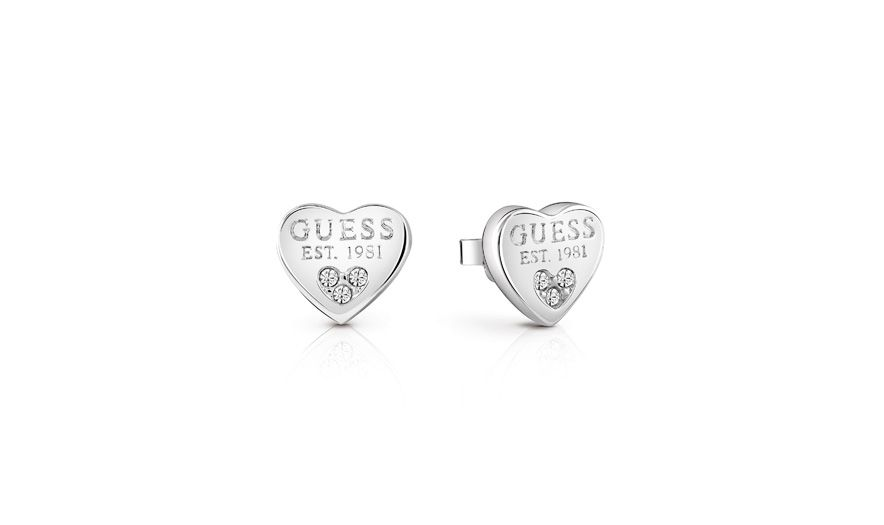 Guess All about shine 1981 padlock earrings, Silverlic