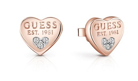 Guess All about shine 1981 padlock earrings