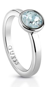 Guess Miami ubr83030-54 blue crystal ring