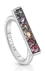 Guess Miami ubr83041-54 rainbow crystal ring