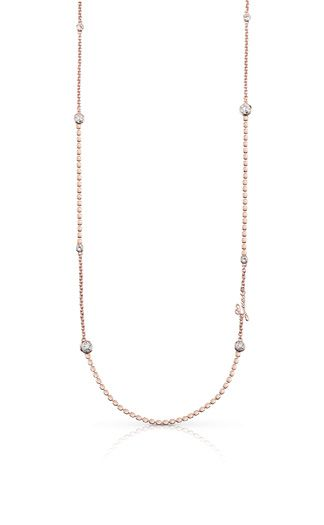 Photo of Guess crystal beauty long necklace- rose gold