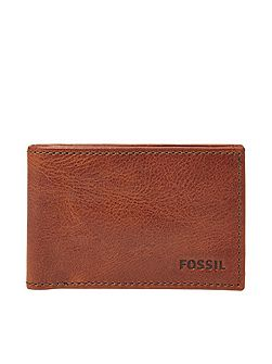 Fossil conner mens slim coin wallet