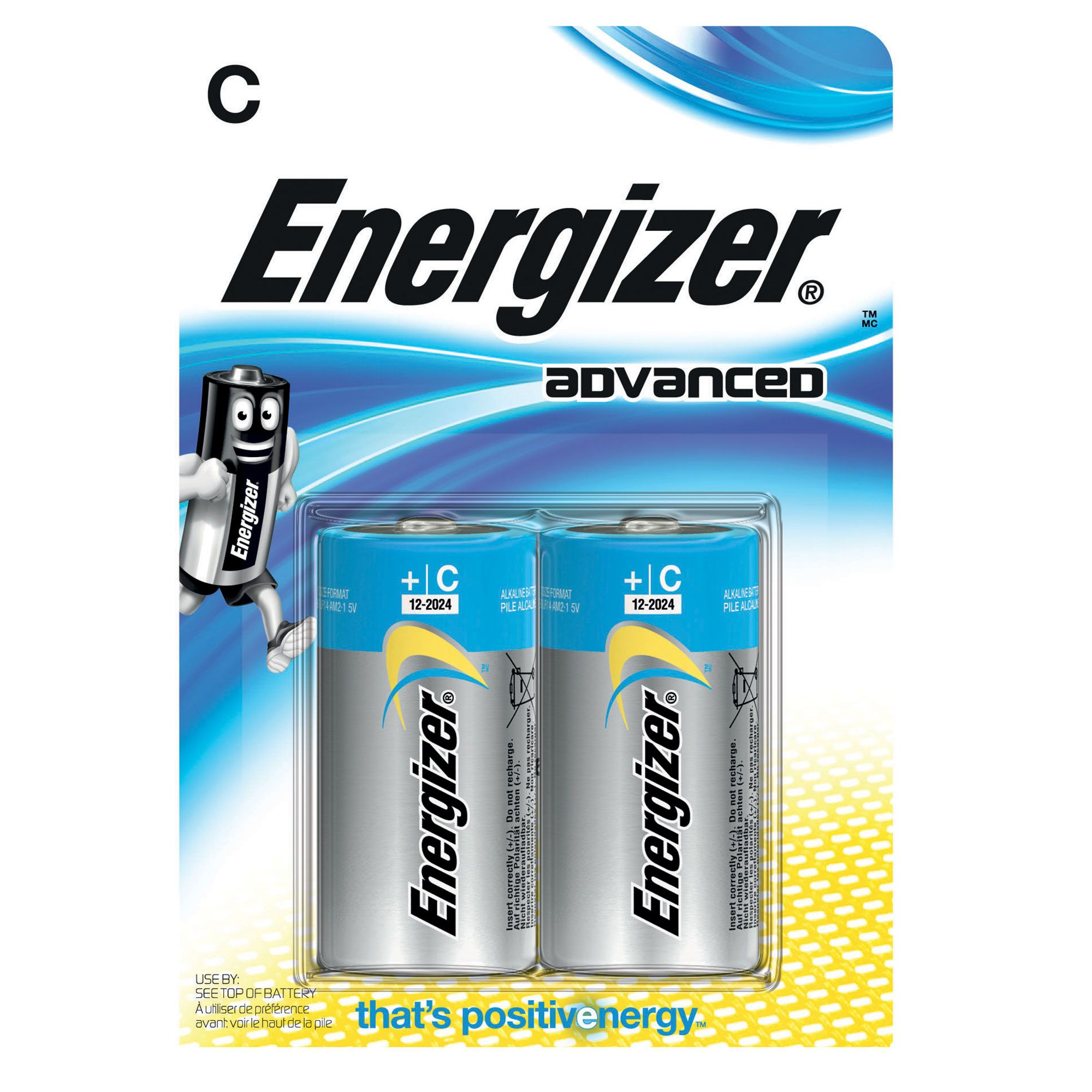 Image of Energizer Advanced C Batteries 2 Pack