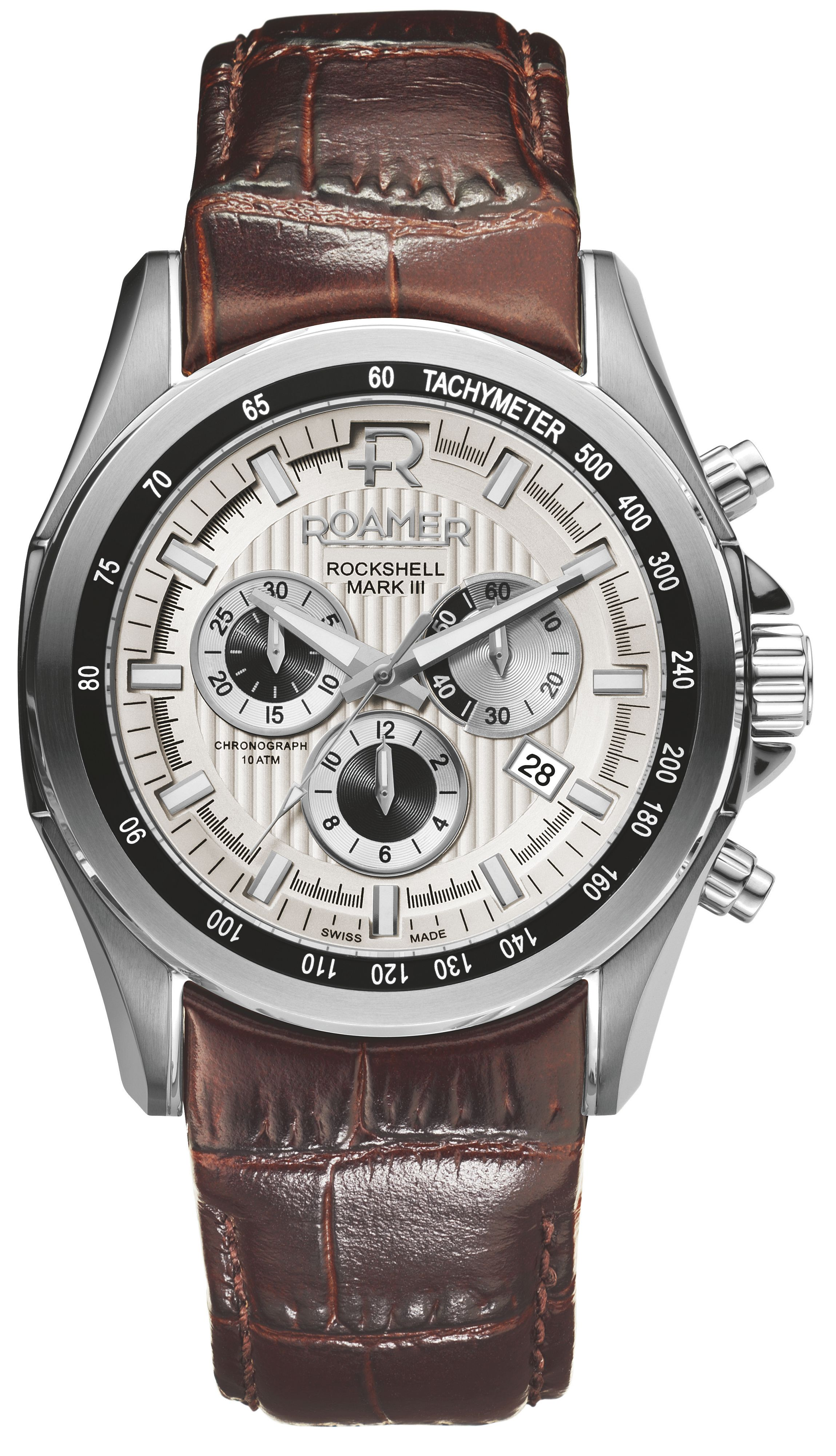 EF32.03ROX Rockshell leather chronograph watch