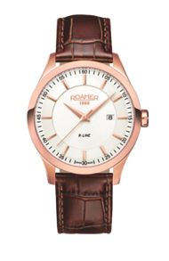 ET21.14ROX R-Line brown leather strap watch