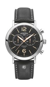 ET13.03ROX Vanguard black strap chronograph watch