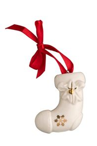 Belleek Living Stocking Hanging Ornament