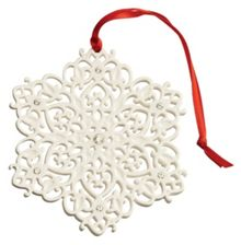 Snowflake with gems christmas ornament
