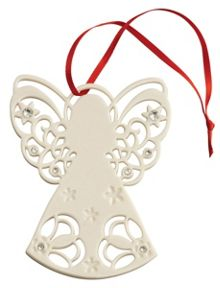 Angel with gems christmas ornament