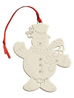 Snowman with gems christmas ornament