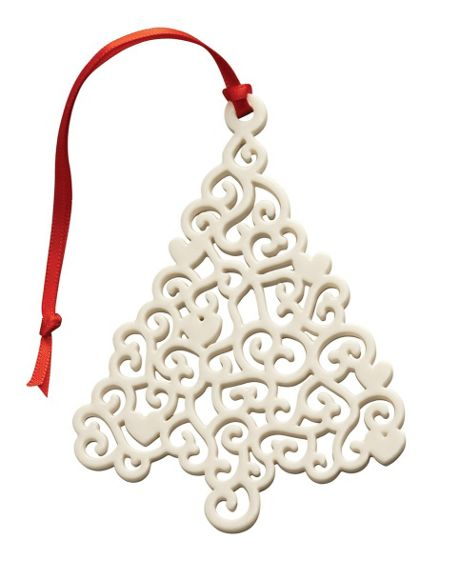 Belleek Living Lace christmas tree ornament