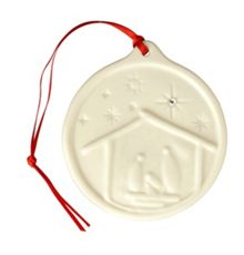 Nativity hanging christmas ornament