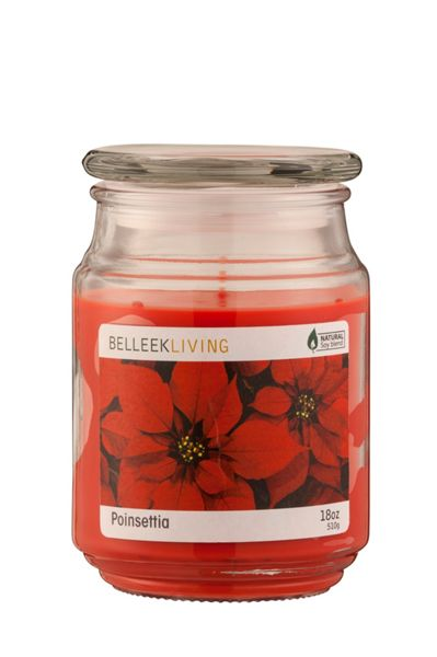 Belleek Living Poinsettia candle