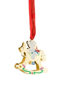 Belleek Living Golden Rocking Horse Hanging Ornament