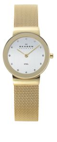 Skagen 358SGGD Classic Gold Ladies Mesh Watch