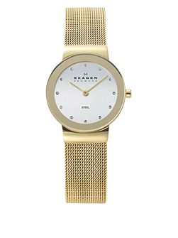 358SGGD Classic Gold Ladies Mesh Watch