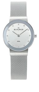Skagen 358SSSD Classic Silver Ladies Mesh Watch