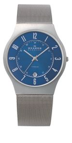 Skagen 233XLTTN Classic Grey Titanium Mens Mesh Watch