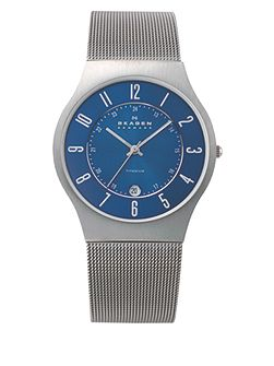 233XLTTN Classic Grey Titanium Mens Mesh Watch