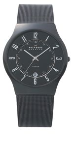 233XLTMB Classic Black Titanium Mens Mesh Watch