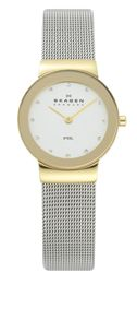 Skagen 358SGSCD Classic Silver and Gold Mesh Watch