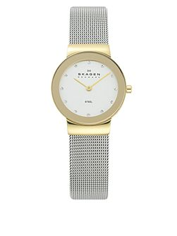 358SGSCD Classic Silver and Gold Mesh Watch