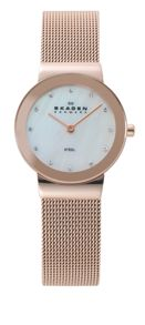358SRRD Classic Rose Gold Ladies Mesh Watch