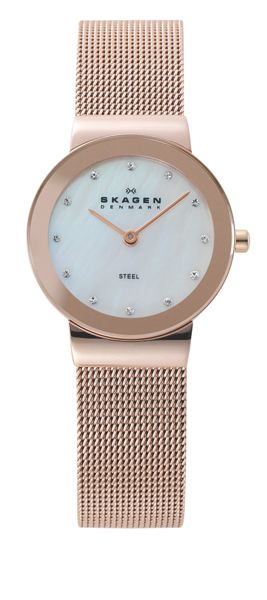 Skagen 358SRRD Classic Rose Gold Ladies Mesh Watch