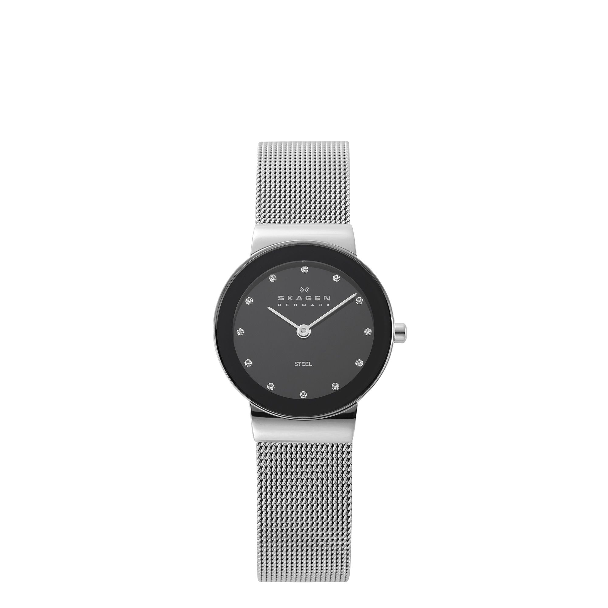 358SSSBD Silver case steel mesh classic watch