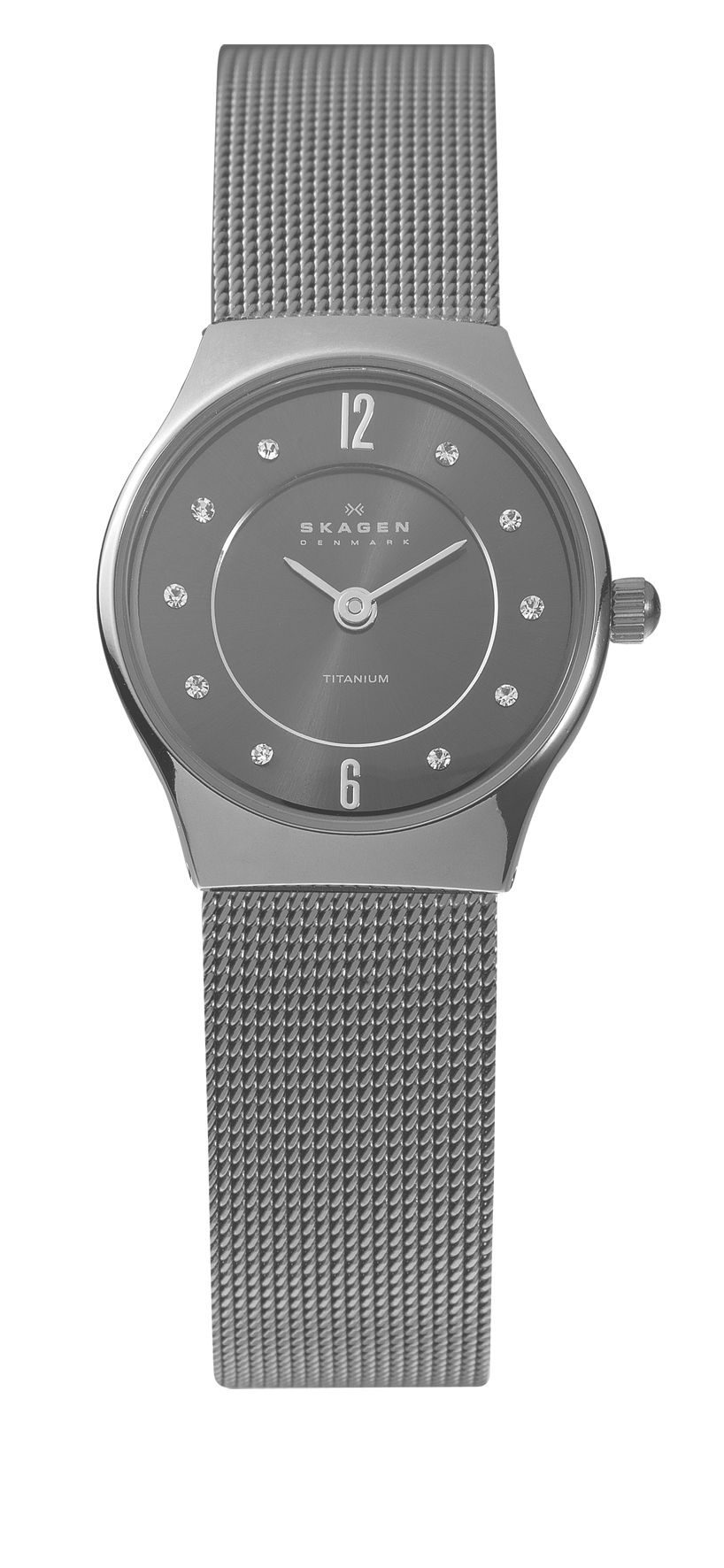 233XSTTM Classic Grey Titanium Ladies Mesh Watch