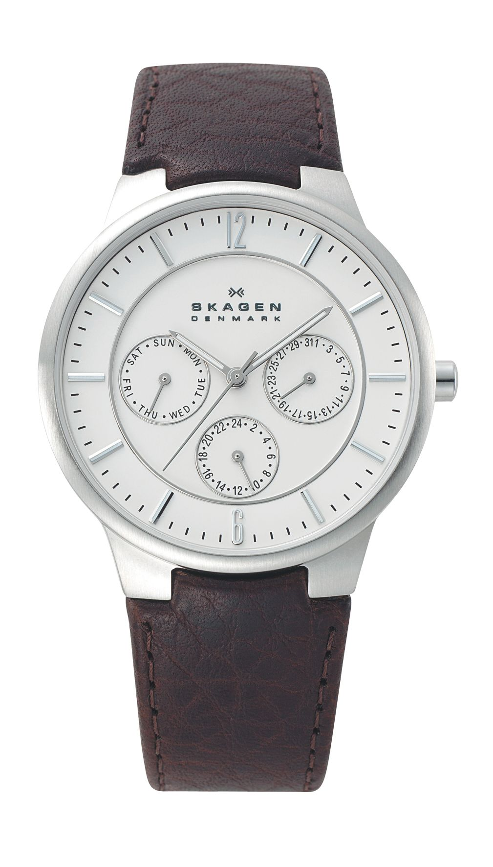 331XLSL1 Brown Pebble Leather Strap Watch