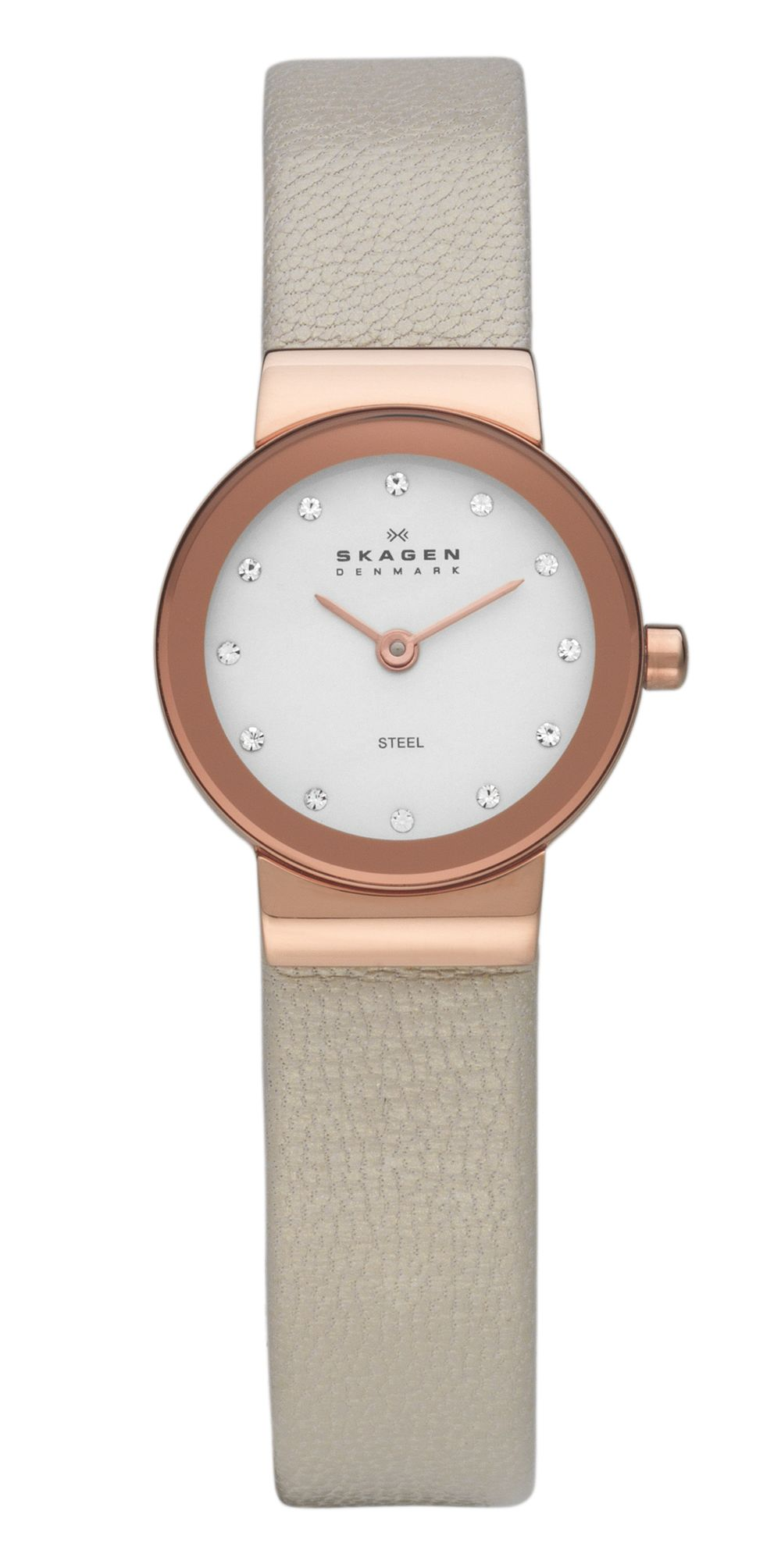 358XSRLT Classic nude leather ladies watch