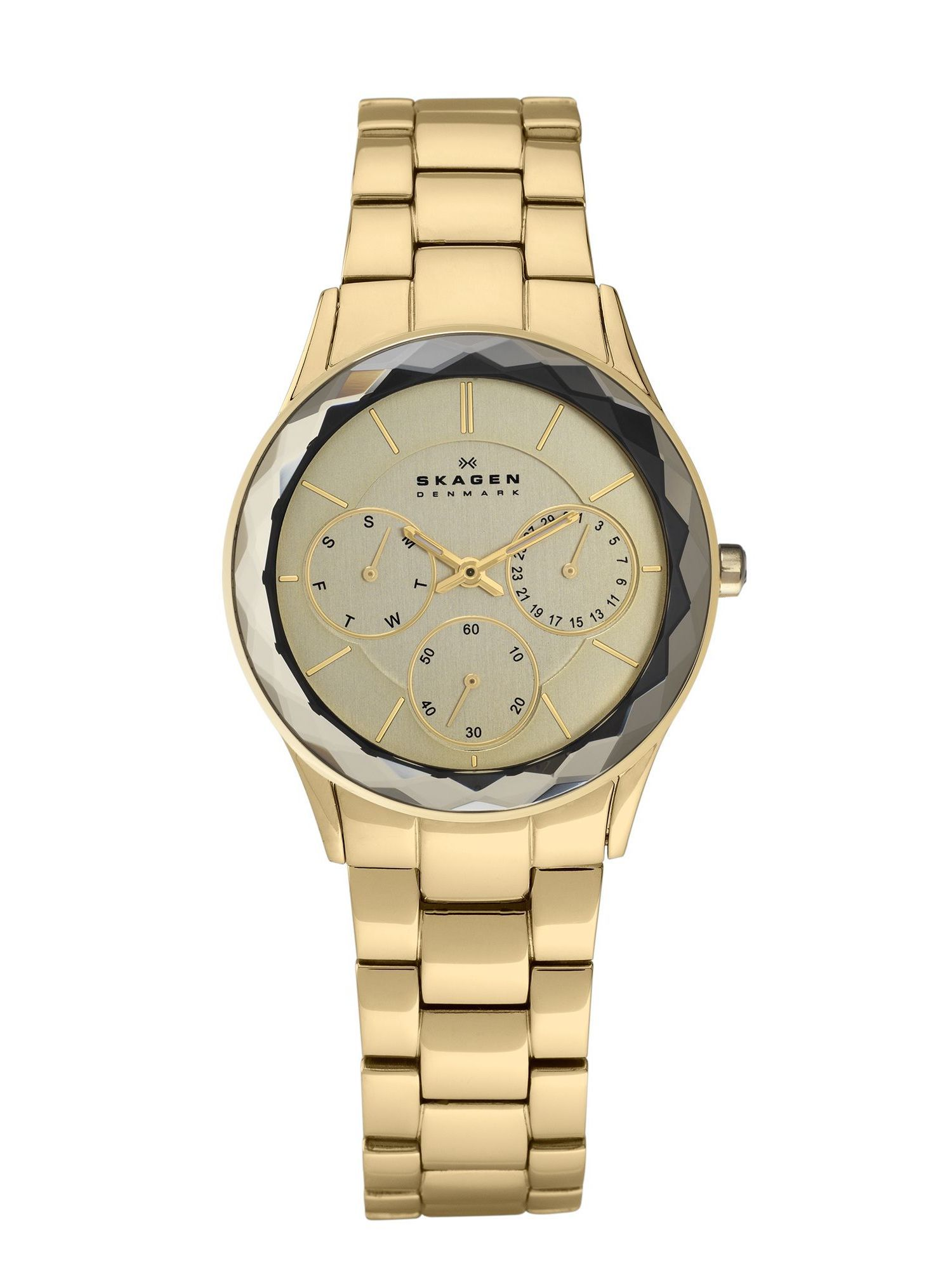 344LGXG Skagen Steel Gold Link Ladies Watch