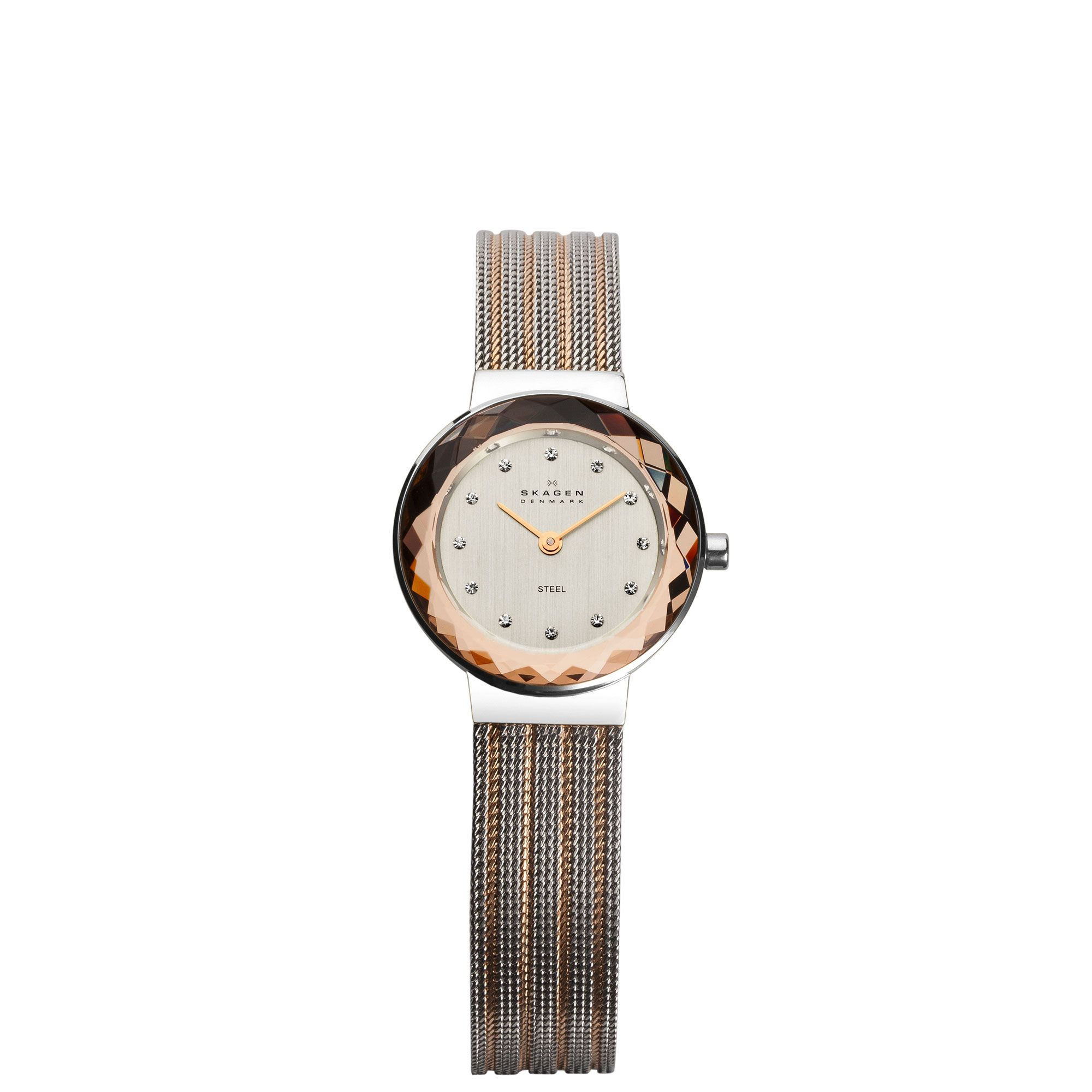 456SRS1 Leonora two tone ladies bracelet watch