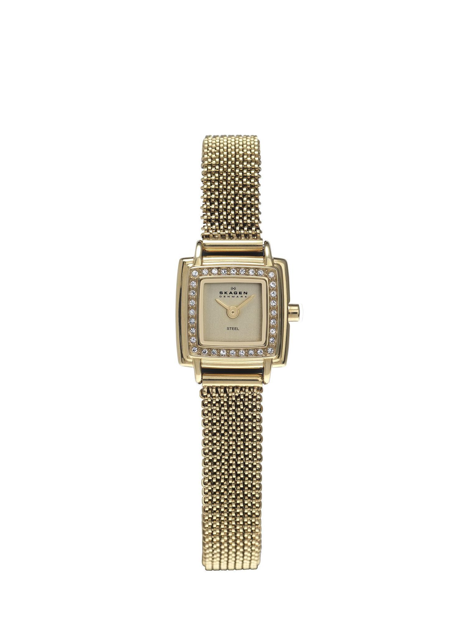 821XSGG1 Skagen Steel Gold Mesh Ladies Watch