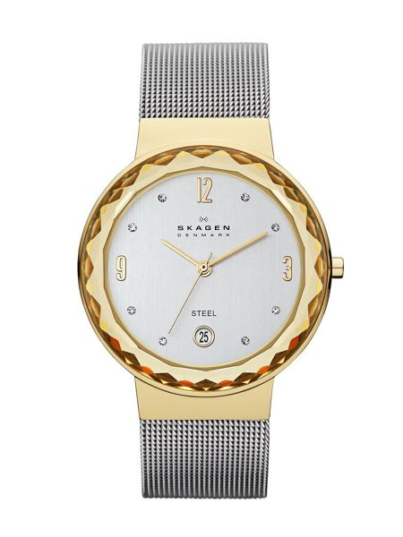 Skagen SKW2002 Classic Silver and Gold Ladies Mesh Watch