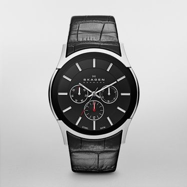 SKW6000 Other Men`s Black Leather Strap Watch