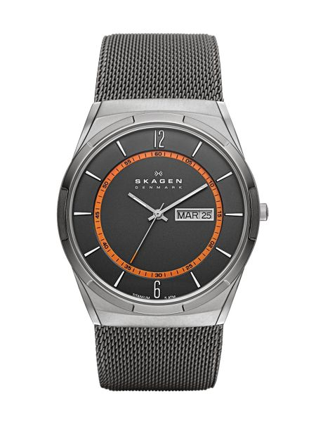 Skagen SKW6007 Active Gunmetal Mens Mesh Watch