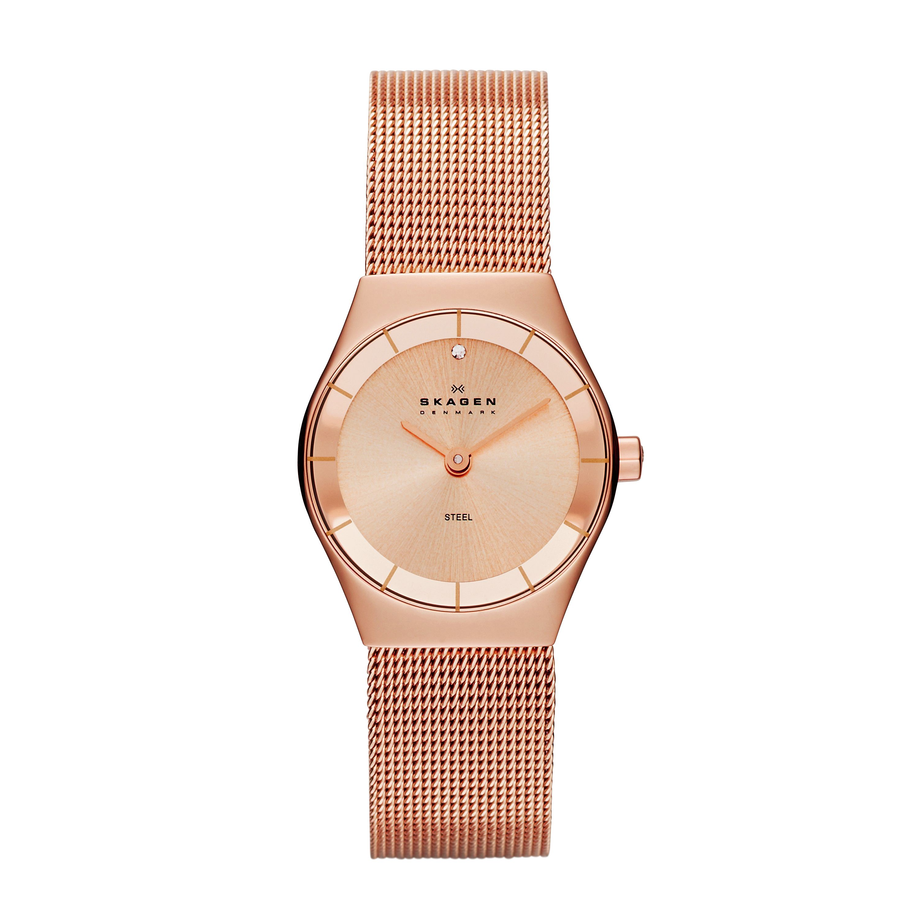 SKW2046 Classic Rose Gold Ladies Mesh Watch