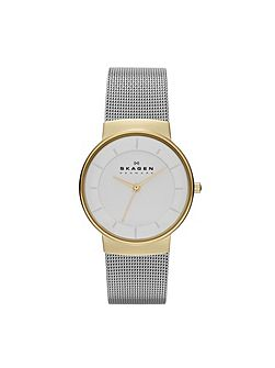 Skagen SKW2076 Classic Silver and Gold Ladies Mesh