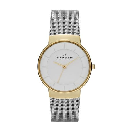 Skagen SKW2076 Classic Silver and Gold Ladies Mesh Watch