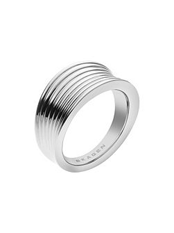 Classic silver steel ring