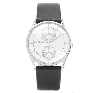SKW6065 Holst Men`s Black Leather Strap Watch