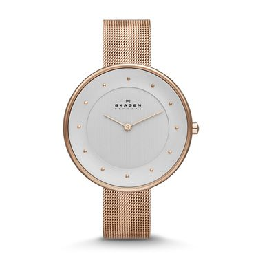 SKW2142 Gitte Ladies Mesh Bracelet Rose Gold Watc